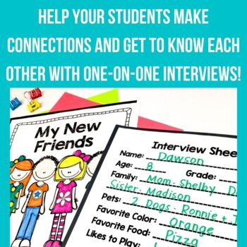 Back to School Activity - My New Friends Book - Ice Breaker