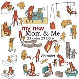My New Mom & Me Clip art, Story book clipart, Renata Galindo inspired clip art