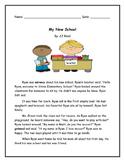 My New School- Reading Comprehension