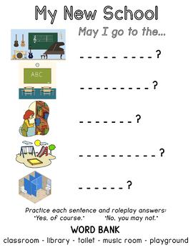 My New School Worksheet
