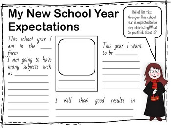 My New School Year Expectations