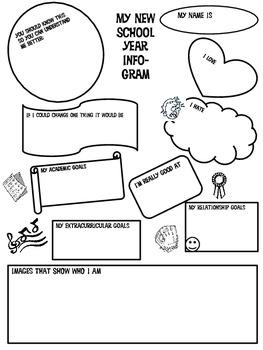 My New School Year Info-Gram by Dianne Watson