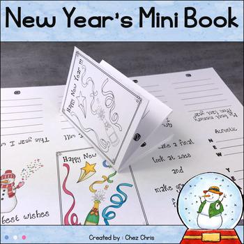 New Year's MiniBook - Writing Activities