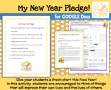 My New Year Pledge--A Google Docs Activity for Grades 4-8
