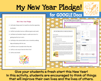 My New Year Pledge--A Google Docs Activity for Grades 4-8