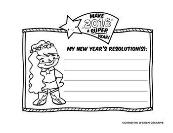 My New Year's Resolution Craftivity 2018 - Super Hero Themed