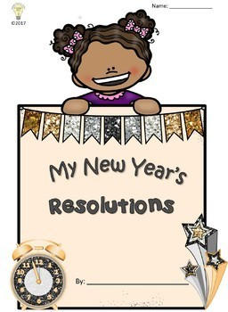 My New Year's Resolutions for 2018 Flipbook Craftivity