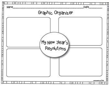 My New Year's 2019 Resolution Craftivity