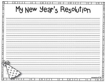 My New Year's 2020 Resolution Craftivity