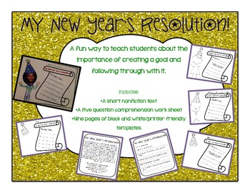 My New Year's Resolution Nonfiction Comprehension and Bulletin Board Activity