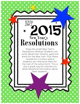 My New Year's Resolutions 2015