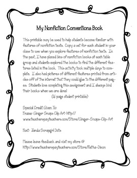 My Nonfiction Conventions Book