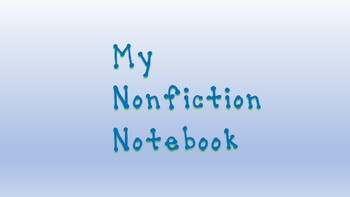 My Nonfiction Notebook