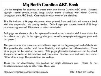 My North Carolina ABC Book