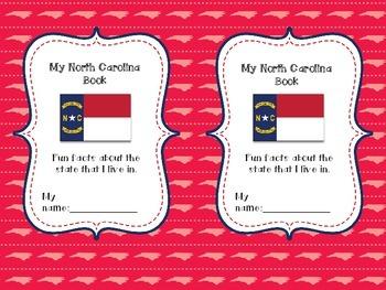 My North Carolina Book: a printable social studies state activity book