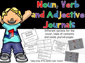 My Noun, Verb and Adjective Journal