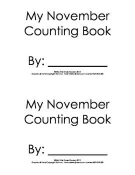 My November Counting Book-Numbers/Number words 1 to 10