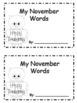 """My November Words"" Booklet"