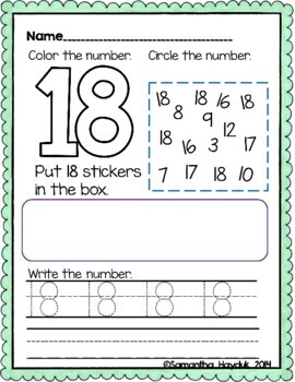 My Number Activity Book 1-30