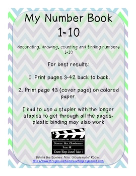 My Number Book 1-10 Decorate, Draw, & Find