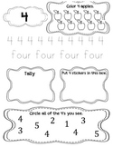 My Number Book 1-10: Printing Practice/Number Recognition and Counting