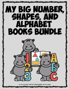 My Big Number, Shapes, and Alphabet Books BUNDLE