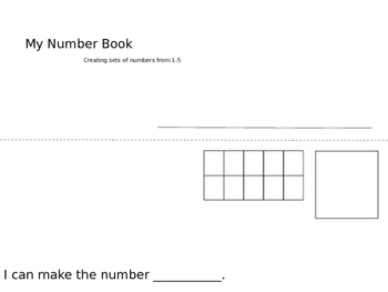My Number Book: Creating Sets of Numbers 1-5