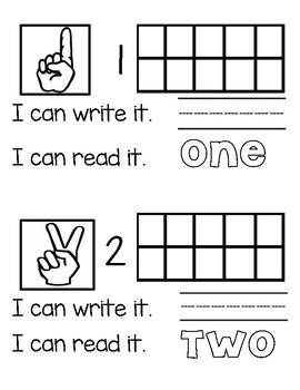My Numbers Book *Numbers 1-10*