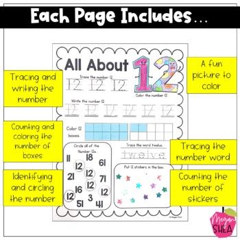 My Number Book Numbers 11-20. Kindergarten Math