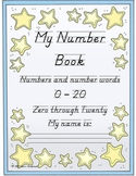 My Number Book, Primary number counting and writing practice, 0-20