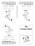 My Number Book Tracing and Counting Pages