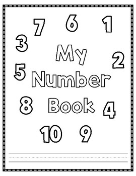 My Number Book for Numbers 1-10 in English and Spanish