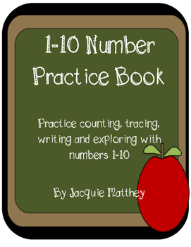 My Number Practice Book 1-10