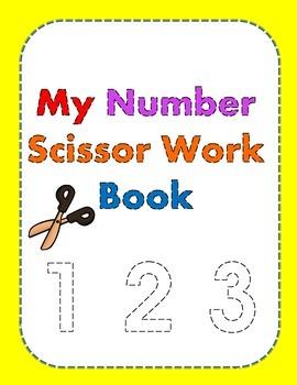 My Number Scissor Work Book