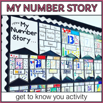 My Number Story Math Get to Know You Activity