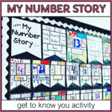 Math Get to Know You Activity & Bulletin Board for Back to School