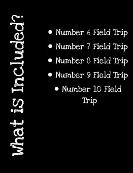 Numbers 6 - 10 Field Trip Bundle!