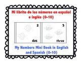 My Numbers Mini Book (English & Spanish) - Mi librito de los numeros