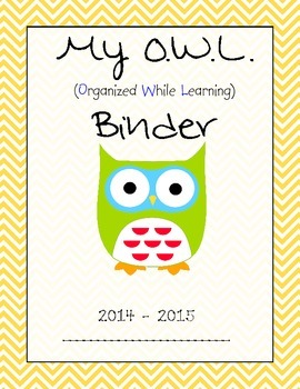 My OWL Book Binder Cover Page