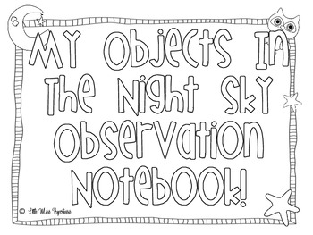 My Observing Objects In The Night Sky Notebook!