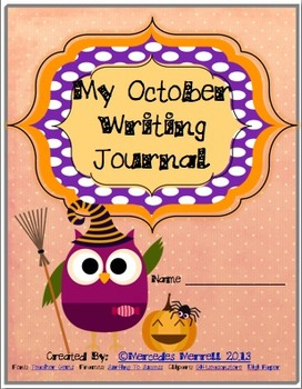 My October Writing Journal Cover