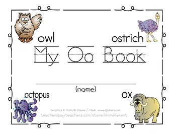 My Oo Book {letter study / sight words you & look}
