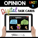 My Opinion Boom Cards™ Digital Task Cards - Reading and Wr