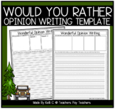 Opinion Graphic Organizer and Writing Page