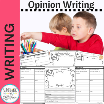 Writing Prompts:  My Opinion Pieces for Grades 1-3 Ready to Print CC Aligned