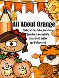 Color Book;Orange Book; 3 Worksheets; Cut/Paste Activity; Color Sort Activity