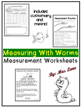 Measuring With Worms Measurement Worksheets