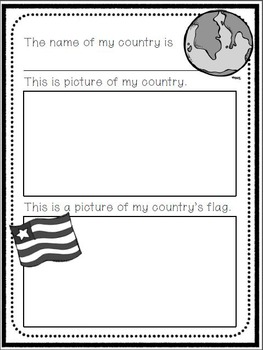 My Own Country Book- A Write and Draw Activity Book