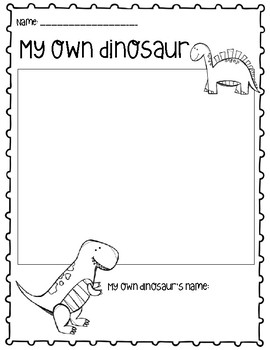My Own Dinosaur Drawing Creative Activity