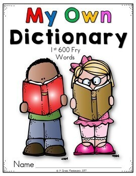 Dictionary for 1st-6th Fry Word Reading and Writing Resource